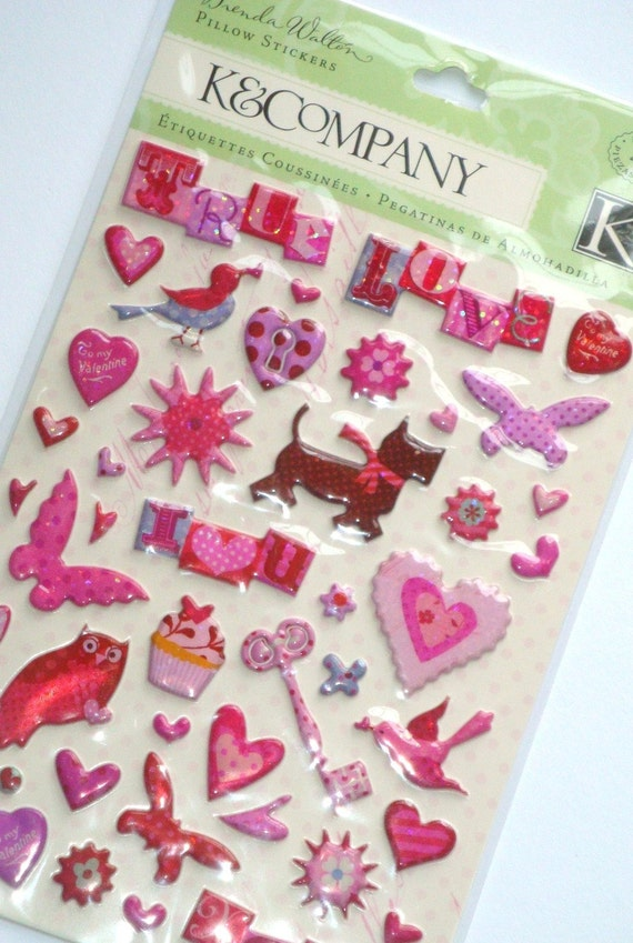 Sweet Talk Lots of Love Pillow Stickers from K&Company