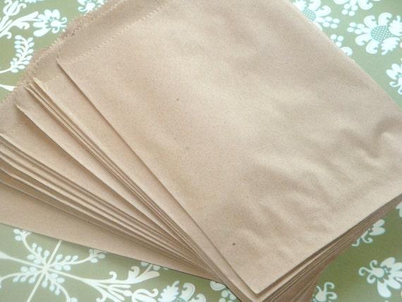 BULK SALE  Brown Paper Merchandise Bags // 100pcs