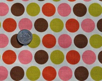 SIX DOLLAR SALE - Indian Summer big dot in cream - 1 yard