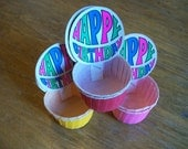 vintage HAPPY BIRTHDAY party favor cups