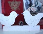 vintage FOLK ART LOVEBIRDS