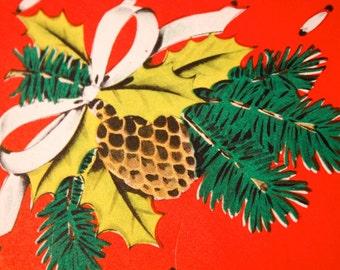 vintage MONEY HOLDER christmas card