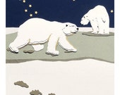 Polar Bear Cards, Set of Six
