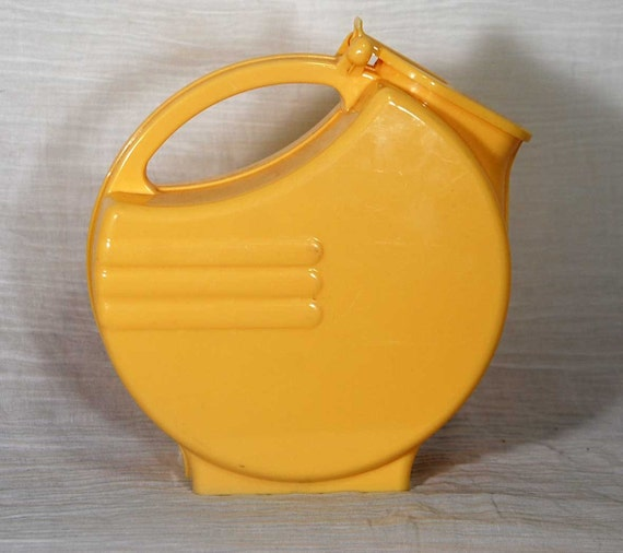 Yellow Pitcher With Hinged Spout - Light Plastic Fiesta Ware Design