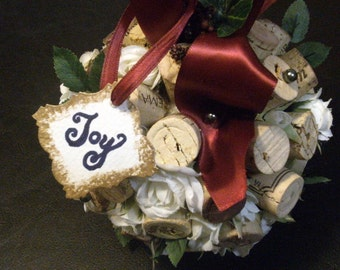 Wine and Roses Kissing Ball Ornament