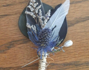 All Natural Wedding Boutonnieres - Misty River
