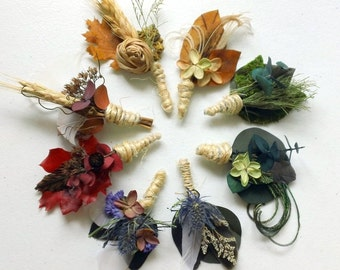 12 You Pick Style and Color All Natural Boutonnieres