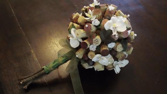 Custom Vineyard Wine and Roses Bouquet