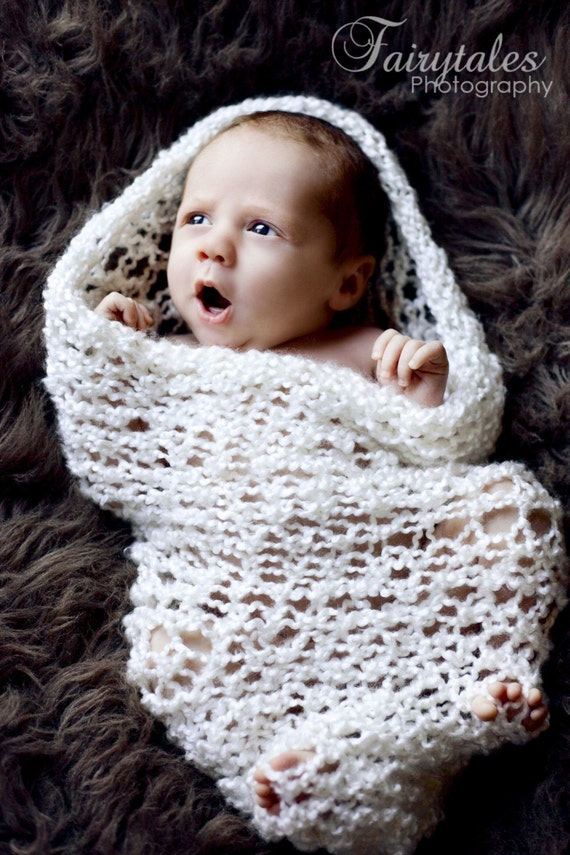 Super Soft Loose Knit Baby Cocoon Pod Bowl Photography Prop