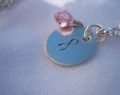 Awareness/Survivor Sterling Silver Necklace (Lisa's Necklace) - 16 inch