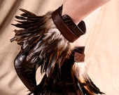Iridescent Feather Ankle Cuff - Brown by ITSAWONDERFULWALL
