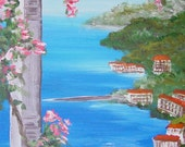 Mediterranean Landscape original painting by ITSAWONDERFULWALL