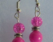 Pink Glass Earrings Ready for Summer