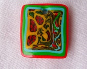 Abstraction in Red Rectangular Bead