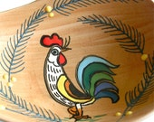 Lucky Rooster dish from Deruta Italy