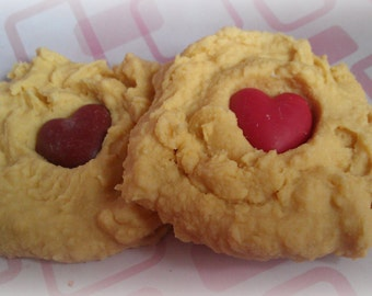 Oatmeal Scotchies Heart Cookie Tarts