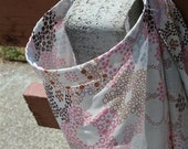Nursing Cover Pink and Brown Flower