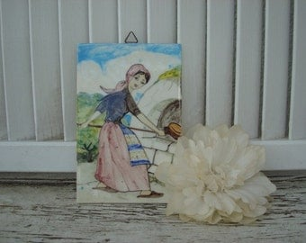 Vintage Ceramic Plaque