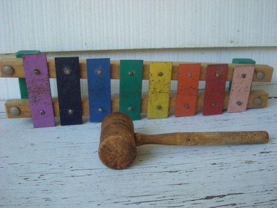 Antique Childrens Xylophone