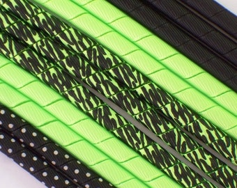 12yds-Neon Green ZEBRA-Summer Fun-Korker Ribbon