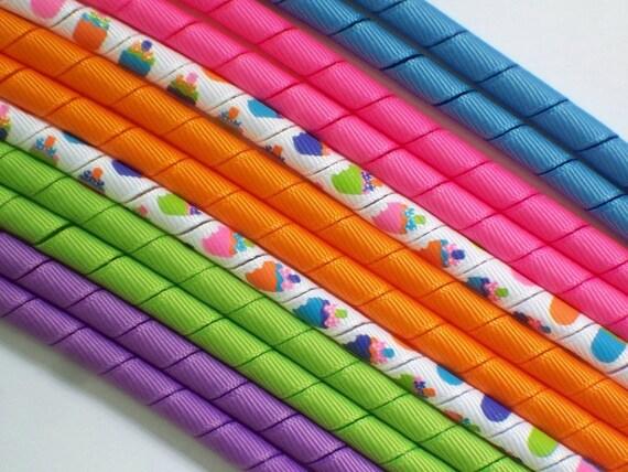 12yds--Rainbow Ice Cream Pops--Cool Colors--Korker Ribbon