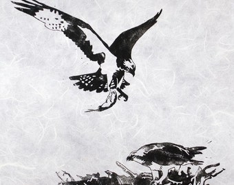 Osprey Original Lino Print