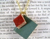Miniature Book Necklace Tiny Pair Leather Books Necklace Wearable Art