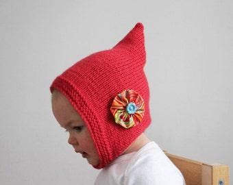 Direct Download PDF Knitting Pattern - Great Beginner Knitting Pattern - Baby and Toddler Knit Hat Pattern