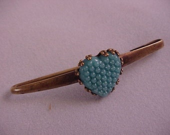 Blue Heart Vintage Pin