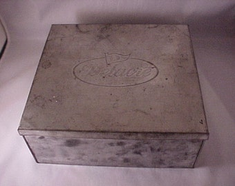 Tin Covered Box  Delacre Advertising