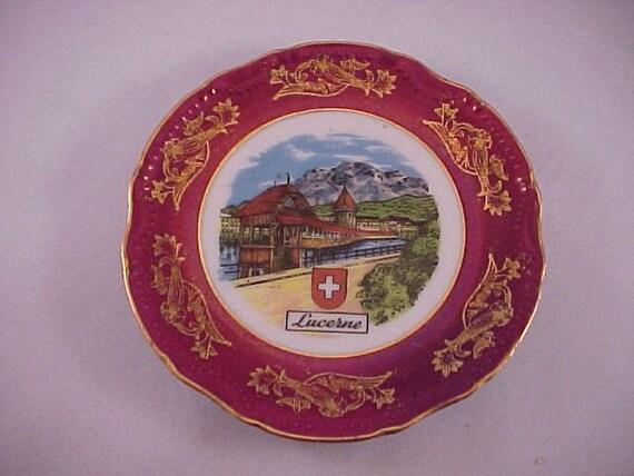 souvenir plate lucerne switzerland