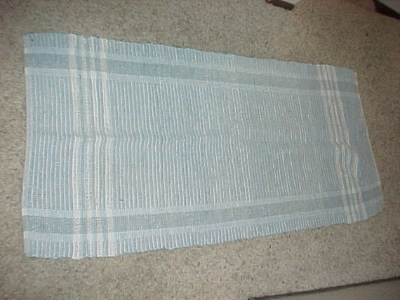 Used Blue Rag Rug 59x26