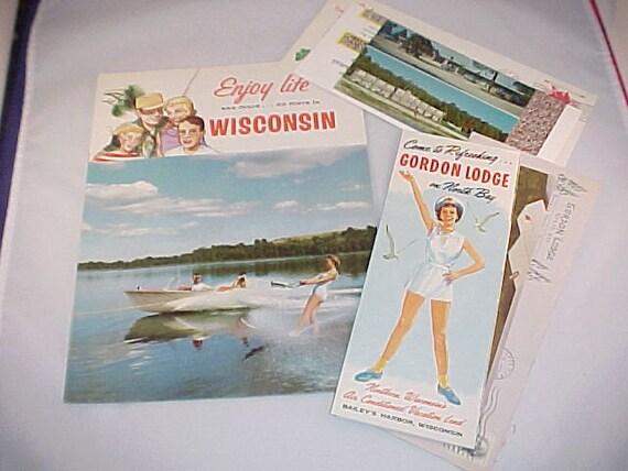 Wisconsin 1960s Travel Brochure Lot