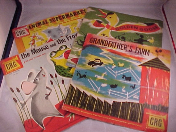 4 Children's Records CRG Childrens Record Guild 78 rpm 10 Inch Records