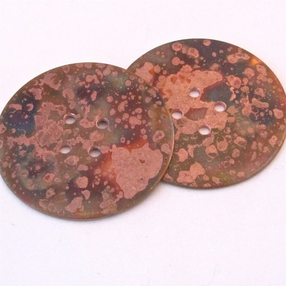 "Copper Buttons - Decorative Buttons - 1 1/2"" - Round Buttons"