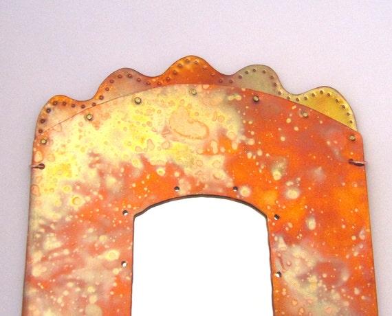 """Tall Copper Mirror - Wall Mirror - 5 1/4"""" x 12 1/4"""""""