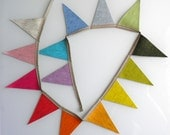 FIERCE TRIANGLES eco-friendly nursery & party decoration / flag bunting / photo prop from European Heathered Wool Felt