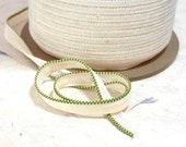 Bookbinding Endband Green and Gold