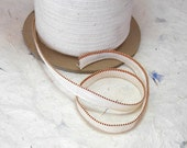 Bookbinding Endband Cotton Weave Tape Red and Gold