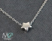 Tiny Star Necklace, Sterling Silver