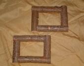 2) 5X7 Rustic Cedar Camp Picture Frames Maine made