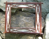 Rustic White Birch Bark and Twig Picture Frames Handcrafted Handmade