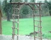 Rustic Cedar Twig Garden Wedding Arbor  Will Ship