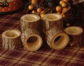 Rustic Cedar Napkin Rings Maine Handmade  Set of 8