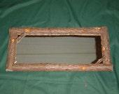 Rustic Maine Cedar Bathroom  Camp Mirror