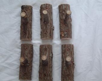 Rustic Log Coat Hooks Handcrafted Maine Made Cedar Home Decor
