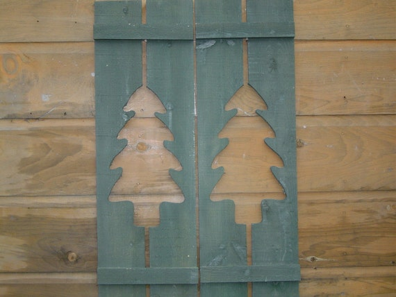Maine Rustic Northwoods Camp Shutters