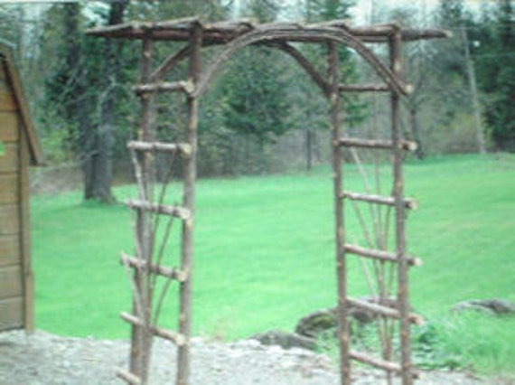 Handcrafted Rustic Cedar Garden Arbor Shipping only in New England at this time