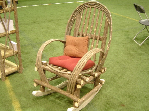 Rustic Cedar  Bentwood Twig Rocking Chair  Contact me for a shipping quote