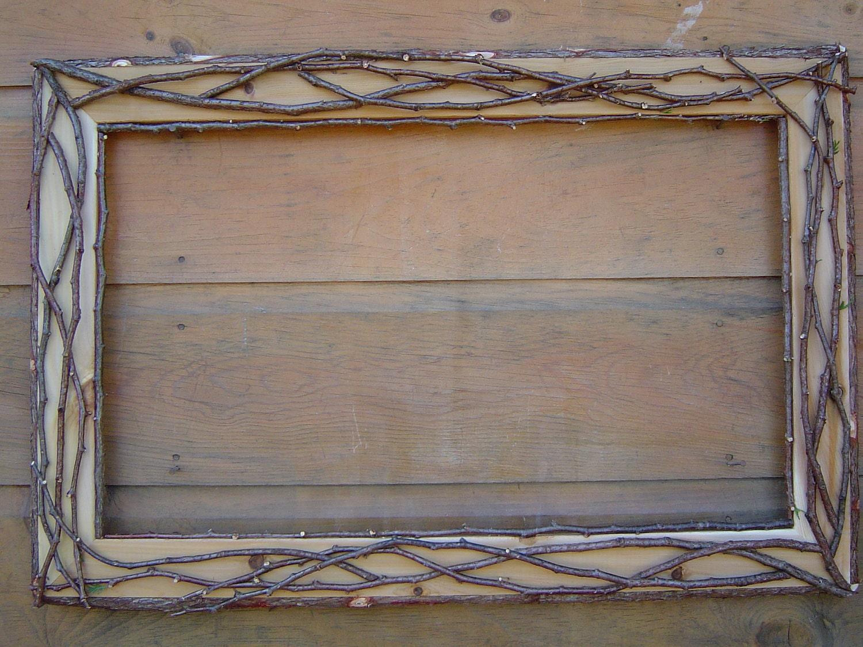 Rustic Cedar Twig Picture Frame
